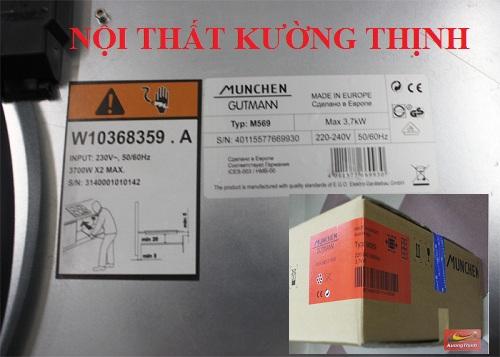 Bếp điện từ Munchen M569 nhập khẩu từ đâu?