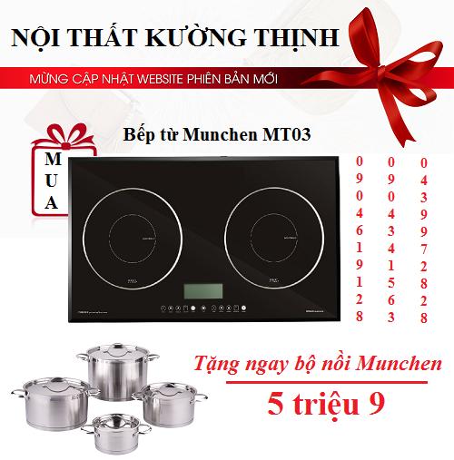 Báo giá khuyến mãi bếp từ Munchen MT03 mới nhất