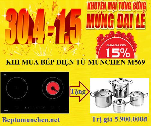 Bếp điện từ Munchen M569 bùng nổ khuyến mại trong tháng 4