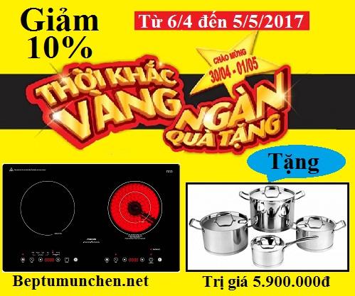 Bếp điện từ Munchen SMC 250I khuyến mãi giảm giá bất ngờ dịp 30/4