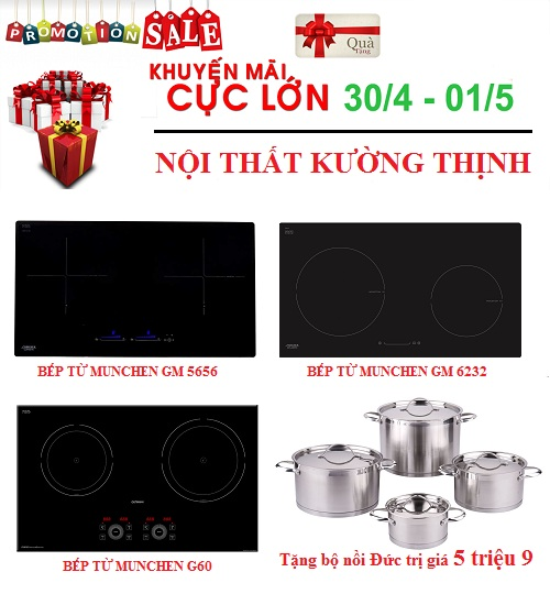 Bếp từ Munchen giảm giá cực sốc nhân dịp Đại lễ