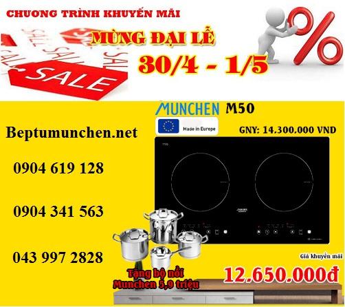Bếp từ Munchen M50 giảm giá cực khủng dịp 30/4
