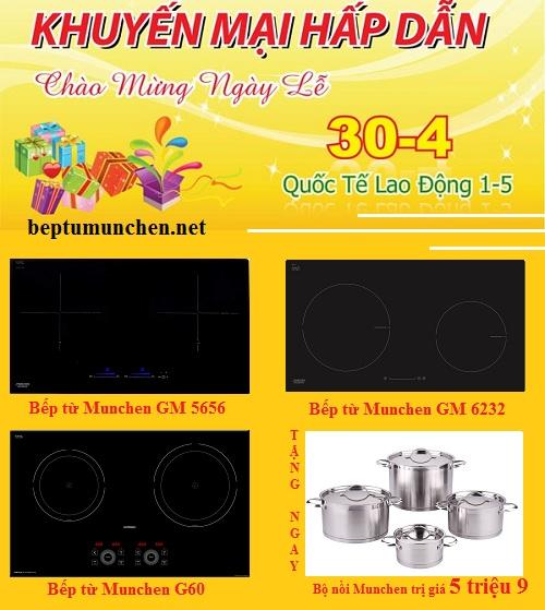 Bếp từ Munchen ồ ạt giảm giá trong tháng 4