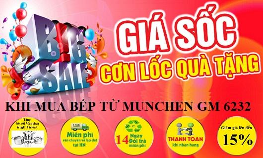BIG SALE – Bếp từ Munchen GM 6232 khuyến mại 15%