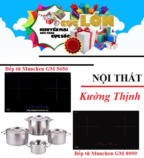 Bộ đôi bếp từ Munchen GM 5656 và GM 8999 tưng bừng khuyến mãi
