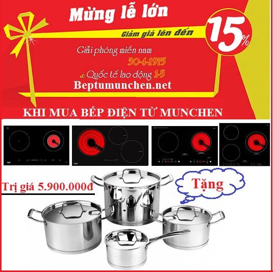 Khuyến mại khủng giảm giá lớn khi mua bếp điện từ Munchen dịp 30/4 – 1/5