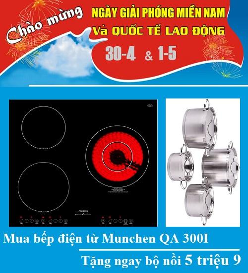 Khuyến mãi lớn bếp điện từ Munchen QA 300I