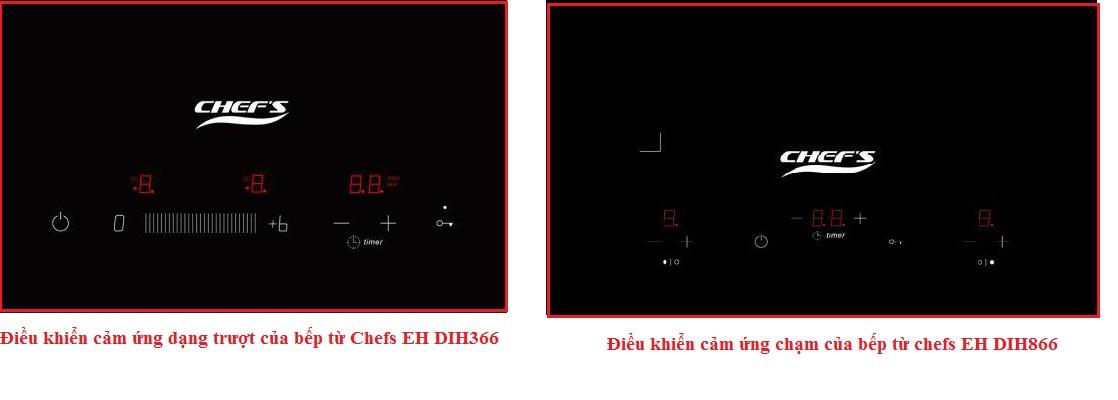 So sánh Bếp từ Chefs EH DIH366 và bếp từ chefs eh dih866