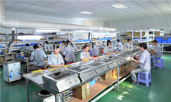 lắp ráp bếp từ tại nhà máy Trung Quốc
