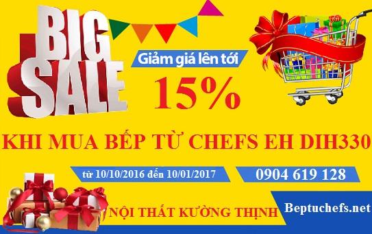 Khuyến mại lớn khi mua bếp từ Chefs EH DIH330