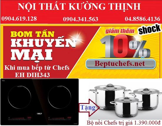 Bùng nổ khuyến mại cùng bom tấn ưu đãi khi mua bếp từ Chefs EH DIH343