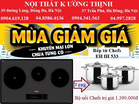 Giá rẻ bất ngờ khi mua bếp từ Chefs EH IH533 trong tháng 7