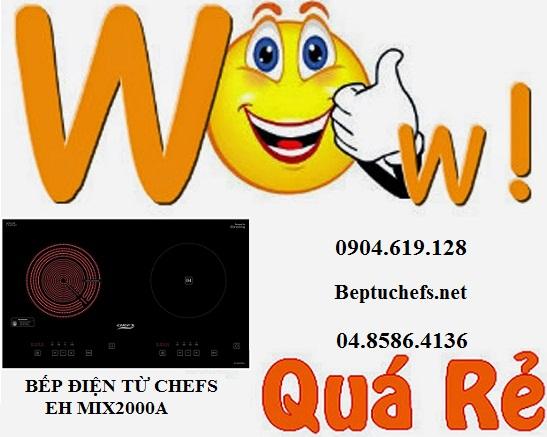 Bếp điện từ Chefs EH MIX2000A khuyến mãi lớn giảm ngay 10%