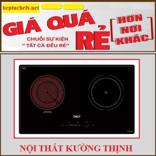 Giảm giá cực sốc khi mua bếp điện từ Chefs EH MIX366