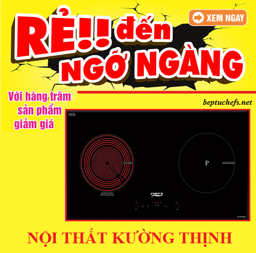 Mua bếp điện từ Chefs EH MIX866 rinh quà mỏi tay