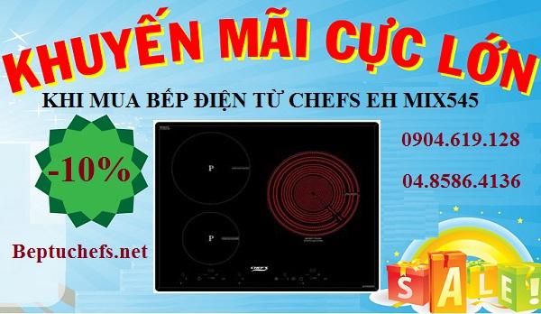 Nội Thất Kường Thịnh bất ngờ giảm giá khủng cho bếp điện từ Chefs EH MIX545