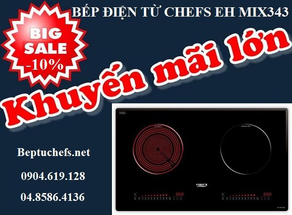 Siêu khuyến mại giảm giá sốc khi mua bếp điện từ Chefs EH MIX343