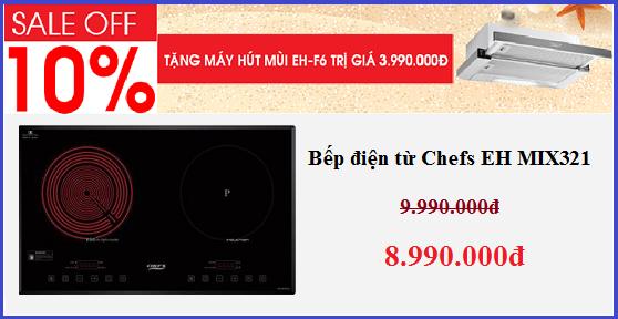60 ngày vàng mua bếp điện từ Chefs giá rẻ chưa từng có