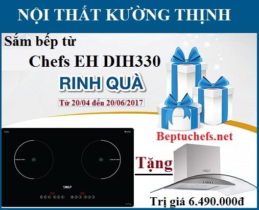Khuyến mại giá sốc cơn lốc quà tặng khi mua bếp từ Chefs EH DIH330