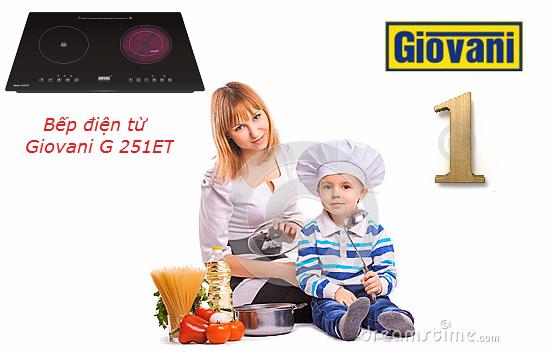 Bếp điện từ Giovani G 251ET lựa chọn tốt nhất trong các dòng bếp điện từ hiện nay