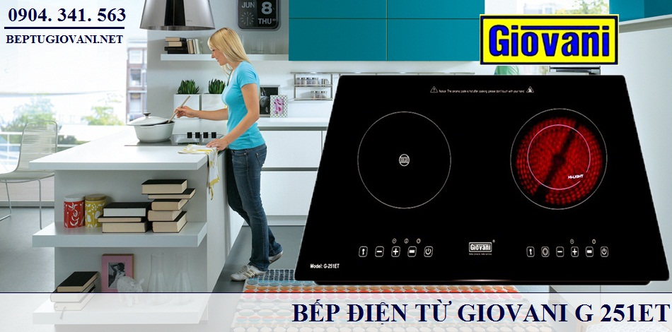 Bếp điện từ Giovani G 251 ET mang lại hạnh phúc cho gia đình bạn