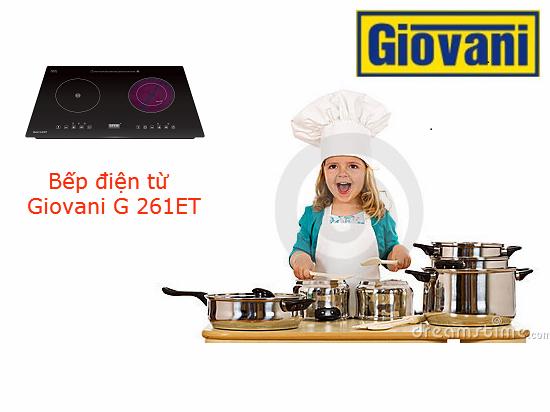 Chiêm ngưỡng thiết kế tuyệt đẹp của bếp điện từ Giovani G 261ET