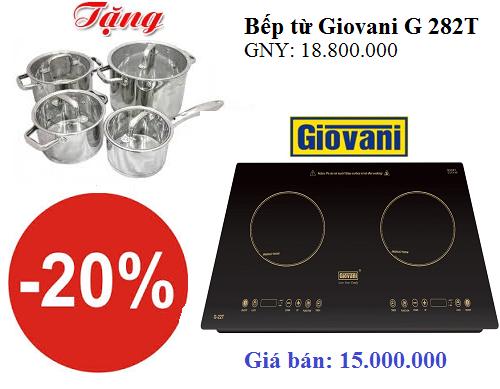Khuyến mại đặc biệt khi mua bếp từ Giovani