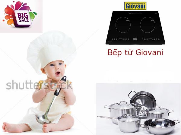Tặng ngay bộ nồi fivestar khi mua các sản phẩm bếp từ Giovani