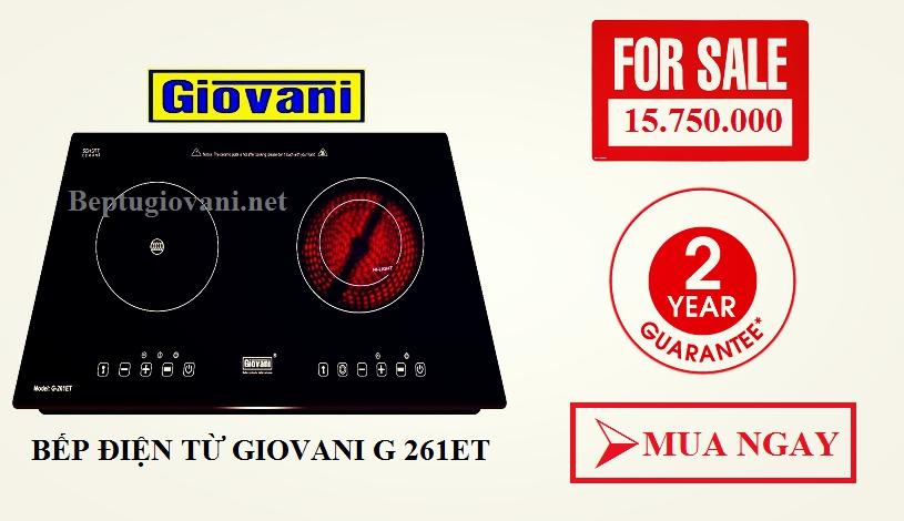 Bếp điện từ Giovani G 261ET giá cả hợp lý