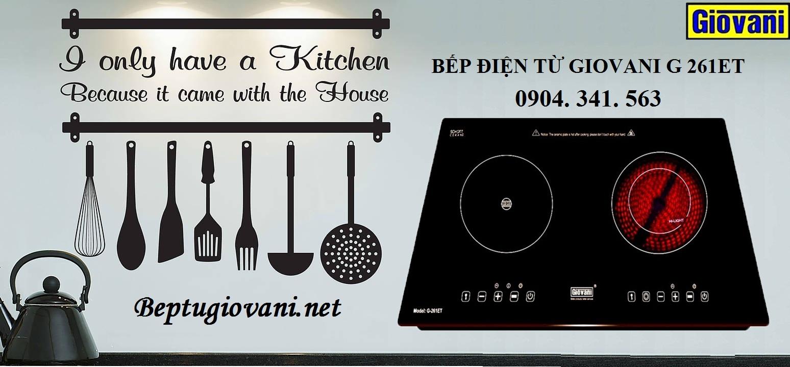 Sử dụng bếp điện từ Giovani G 261ET tiết kiệm chi tiêu hàng tháng