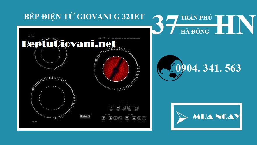 Bếp điện từ Giovani G 321ET dùng tốt