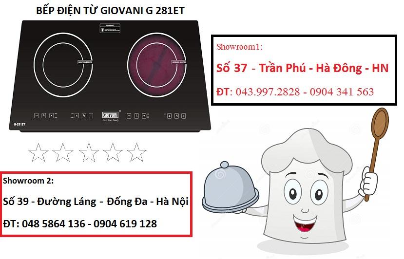 Bếp điện từ Giovani G 281ET xuất xứ từ đâu?