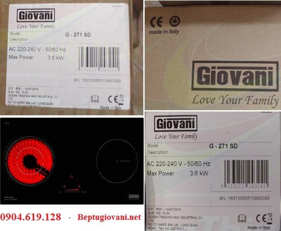 Bếp điện từ Giovani G 271SD có xuất xứ ở đâu
