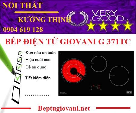 Bếp điện từ Giovani G 371TC có những ưu nhược điểm gì