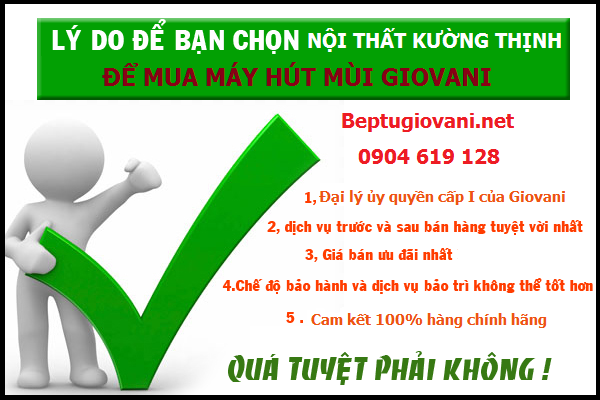 Địa chỉ mua máy hút mùi Giovani chính hãng tin cậy tại Hà Nội