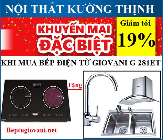 Khuyến mãi lớn nhất từ trước tới nay khi mua bếp điện từ Giovani G 281ET