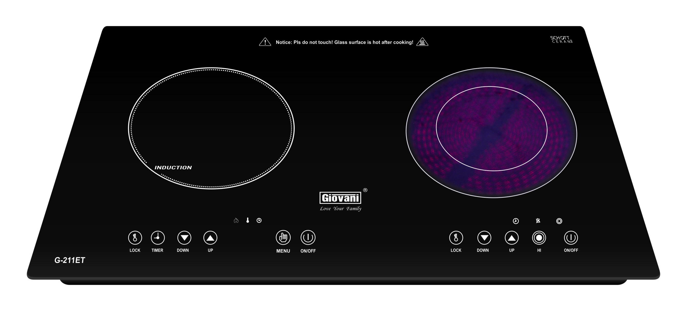 bếp điện từ Giovani G 211ET nhập khẩu