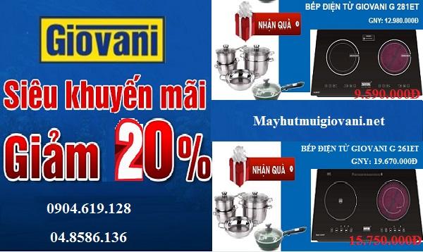 Khuyến mại giảm giá lớn khi mua bếp điện từ Giovani
