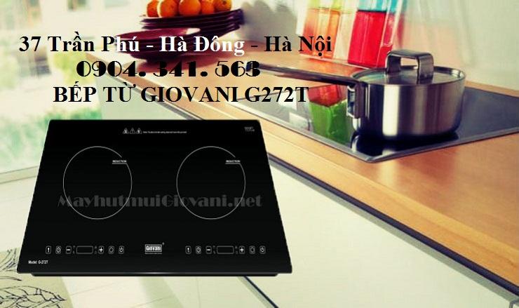 Bếp từ Giovani G 272T có thể đặt âm hoặc dương tùy thích