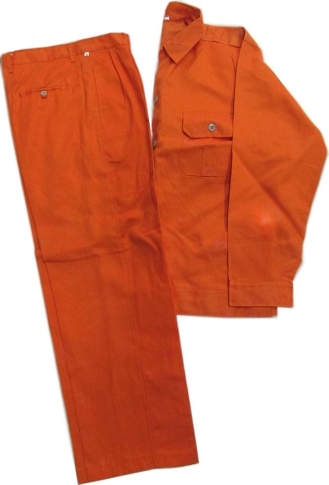 quần áo công nhân Kaki màu cam