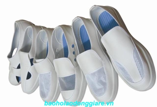 Giày da phủ lưới (màu trắng)