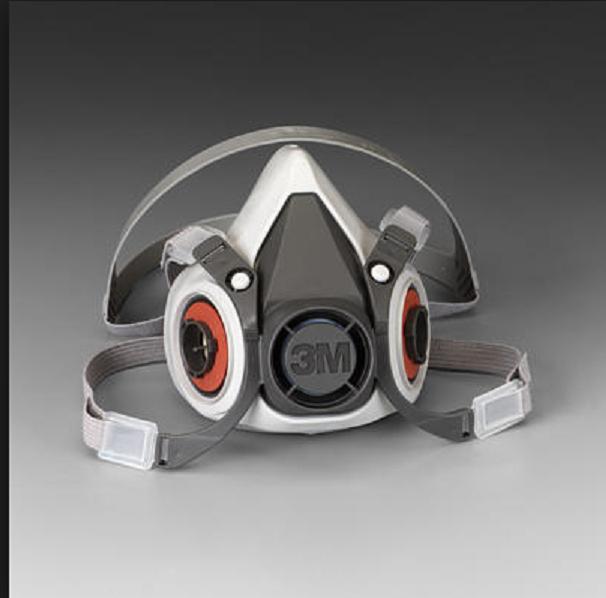 Mặt nạ nửa  mặt loại 6000  sử dụng 2 phin  lọc, chất liệu  cao su