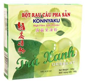 bột rau câu agar trà xanh