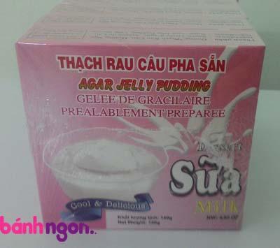 bột thạch rau câu jelly vị sữa