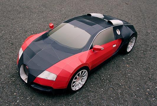 mô hình xe hơi bằng giấy