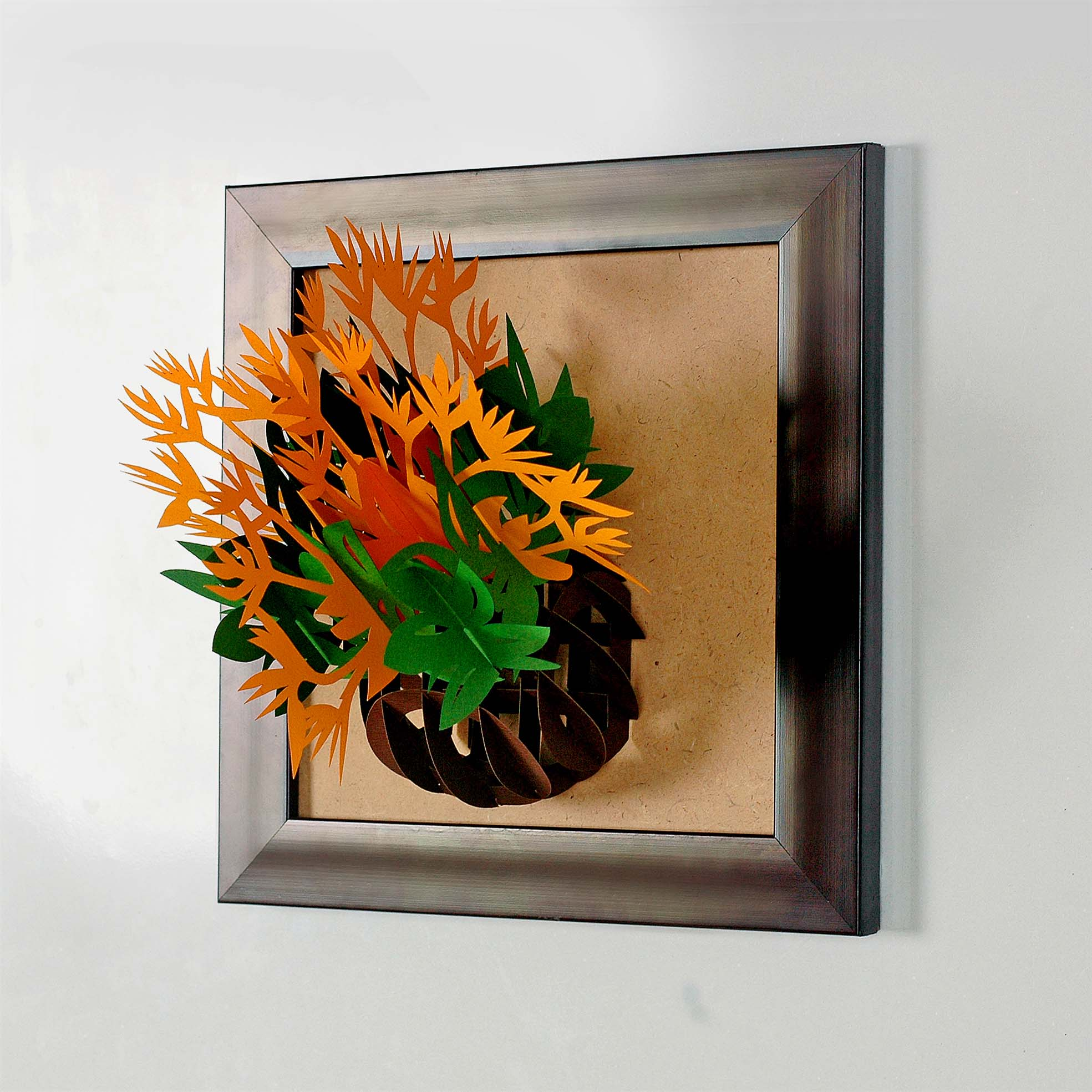 tranh giay noi 3d hinh lo hoa