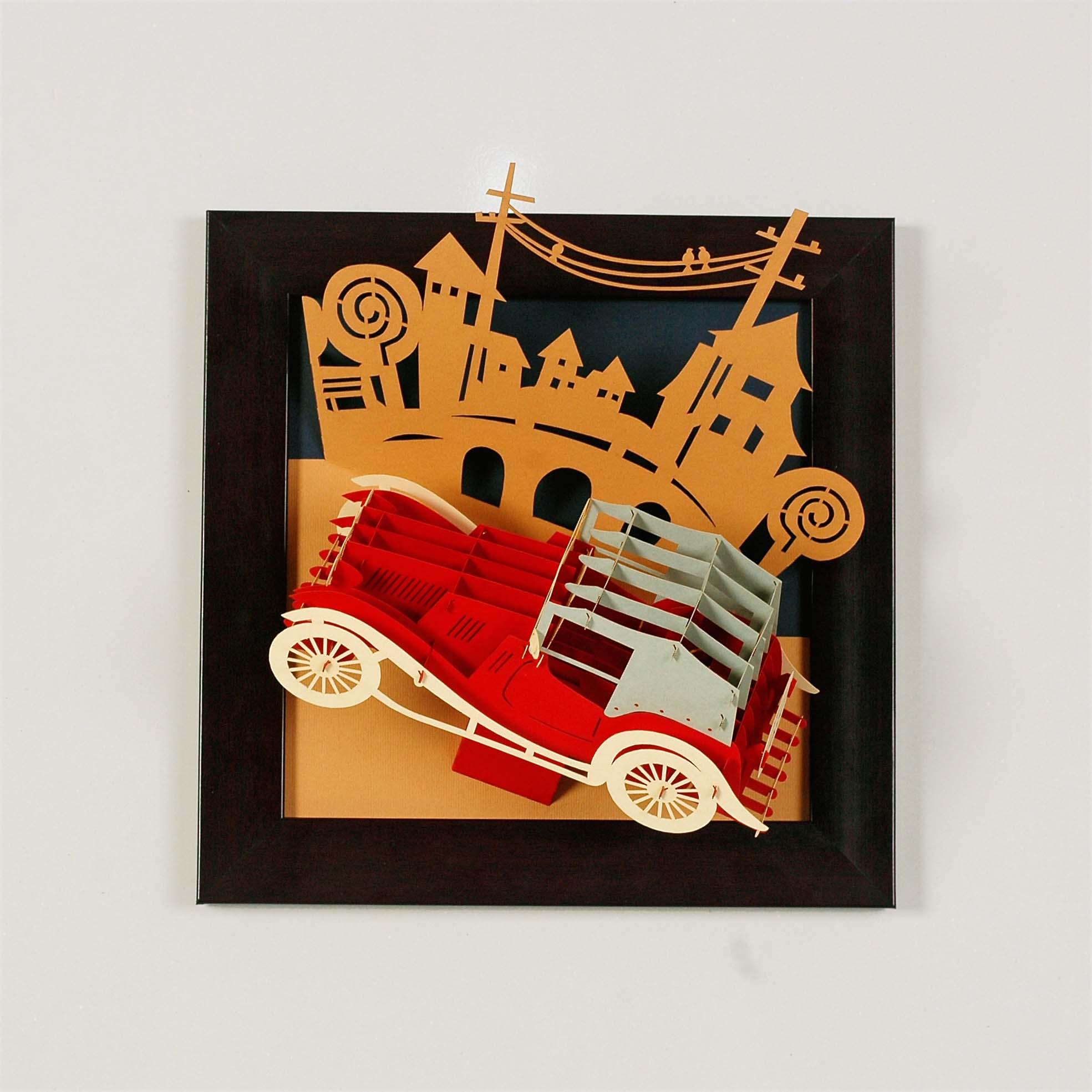 tranh nổi hình ô tô