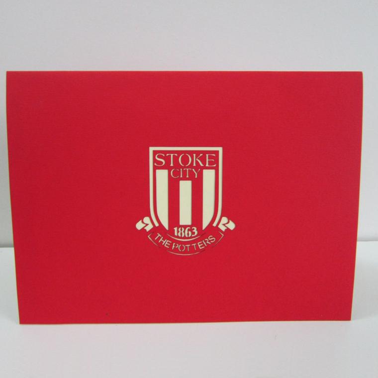 thiệp nổi sân bóng đá Stoke city