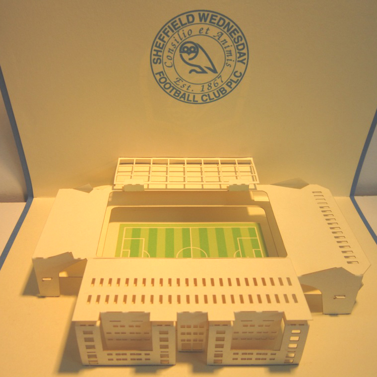 thiệp nổi sân bóng đá Sheffield Wednesday