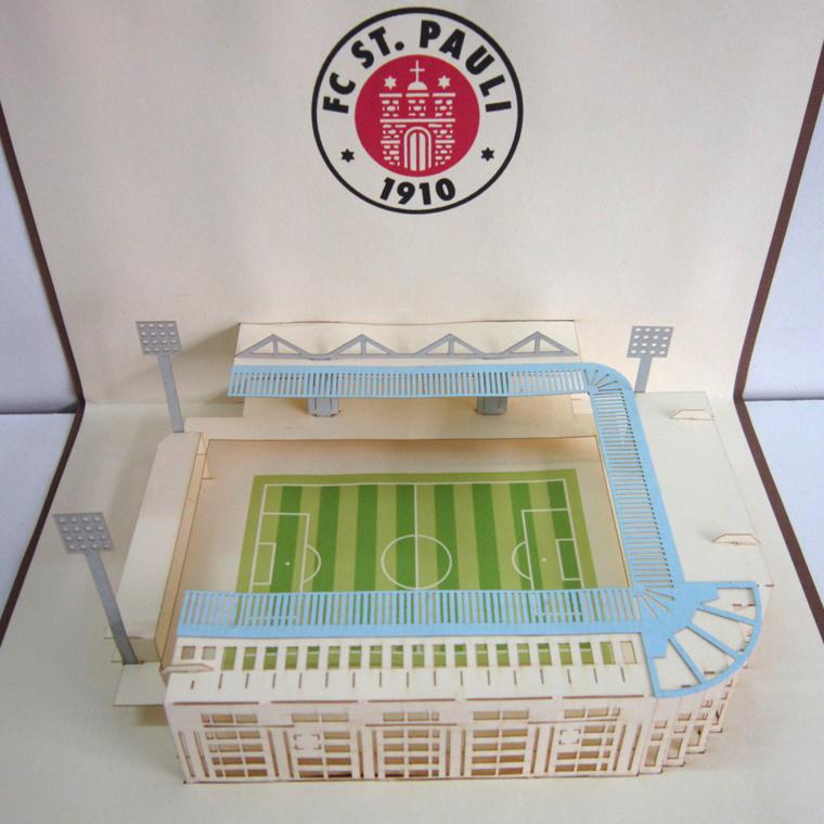 thiệp nổi sân bóng đá ST Pauli